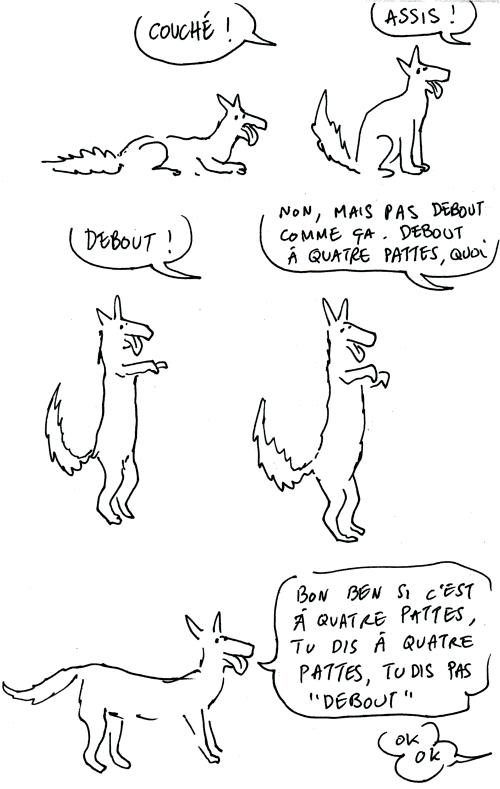 debout